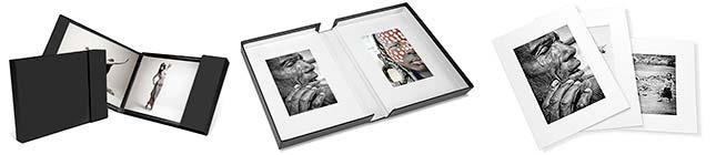 album, book fotografici, scatole portfolio, passepartout per fotografie